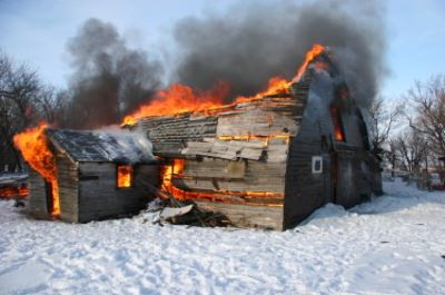 Winter Home Fire
